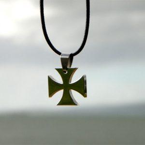 Colgante Cruz Templaria Acero