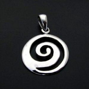 Colgante Espiral Celta en Plata 925