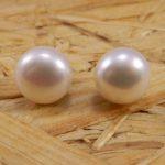 Pendiente Perla Cultivada 12 mm - Perla Natural - Plata de ley