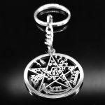LLavero Tetragrammaton en Acero inoxidable