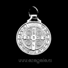 Colgante Medalla de San Benito en plata 925