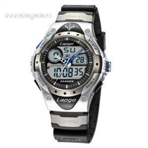 Reloj Pasnew Lapgo Negro y Plata 100 m Extreme Sports Ref. PLG388AD