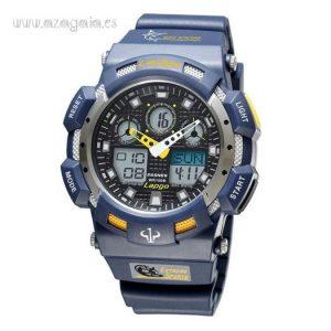 Reloj estilo G Shock Lapgo Pasnew Azul 100 m