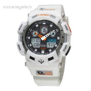 Reloj estilo G Shock Lapgo Pasnew Blanco 100 m