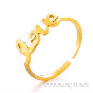 Anillo Love Acero y oro