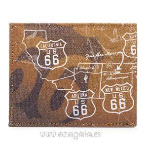 Billetero Tarjetero Monedero Route 66