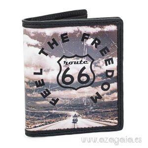Cartera Billetero Vintage Route 66 original