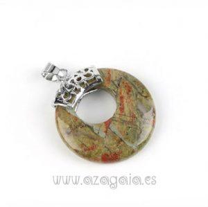 Colgante Piedra Unakita-Redondo-