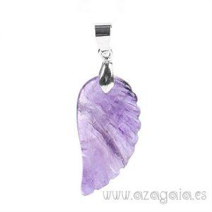 Colgante ala de ángel-Piedra Fluorita Púrpura