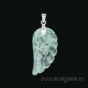 Colgante ala de ángel-Piedra Fluorita Verde