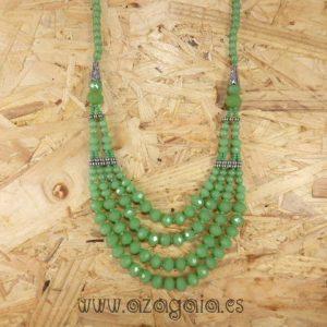 Collar piedra verde jade