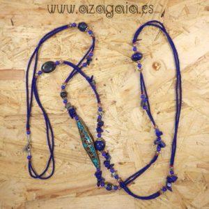 Collar piedras lapislázuli coral y turquesa