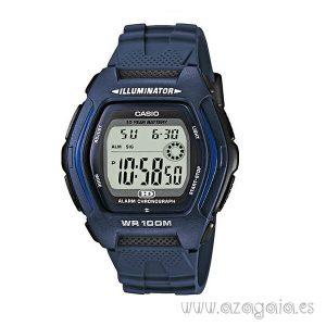 Reloj casio original illuminator wr 100m dual time azul marino