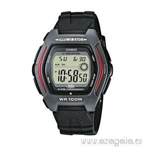 Reloj casio original illuminator wr 100m dual time negro y gris