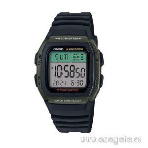 Reloj casio original illuminator wr 50m dual time negro-verde