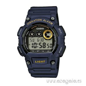 Reloj casio original vibration alarm illuminator WR 100m dual time