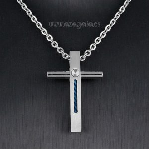 Colgante cruz acero diseño original