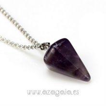 Péndulo piedra amatista-colgante