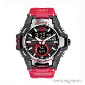 Reloj Deportivo Hombre correa roja magenta Smael