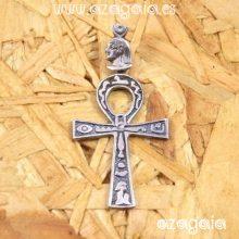 Colgante Cruz Egipcia Ankh llave de la vida amuleto en plata 925
