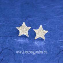 Pendiente estrella de mar plata de ley