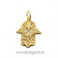 Colgante mano de Fátima plata Chapada en oro