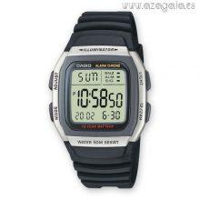 Reloj Casio original illuminator wr 50m dual time negro-plateado