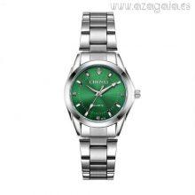 Reloj esfera verde-correa acero