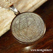 Colgante Amuleto Protección siete Arcángeles sello Salomón