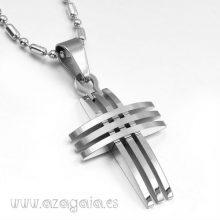 Colgante cruz diseño en acero