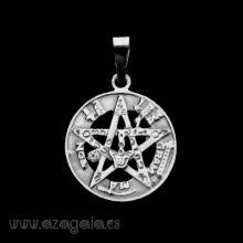 Colgante Tetragrammaton pequeño Plata de ley