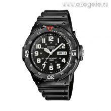 Reloj Casio original negro números blancos