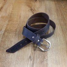 Cinturón cuero color marrón oscuro