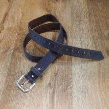 Cinturón cuero marrón oscuro