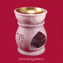 Quemador aceite esencial piedra jabón ohm