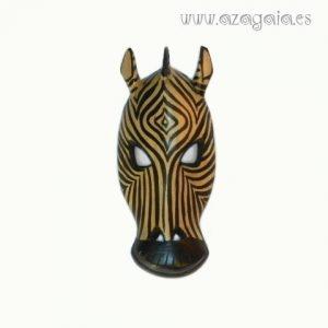 Máscara africana Cebra tallada en madera
