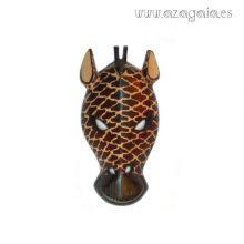 Máscara africana Jirafa tallada en madera