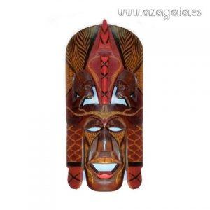 Máscara africana Massai tallada en madera