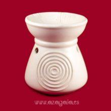 Quemador aceite esencial cerámica color blanco