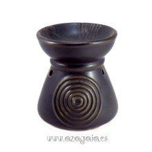 Quemador aceite esencial cerámica color negro