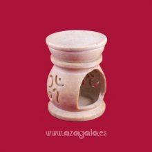 Quemador de aceite en piedra jabón ohm