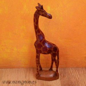 jirafa madera tallada