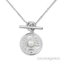 Gargantilla colgante plata símbolos de la suerte y protección